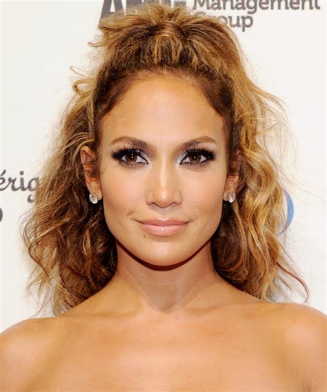 jennifer lopez half up half down hairstyles 13 party hairstyles for curly hair instyle com