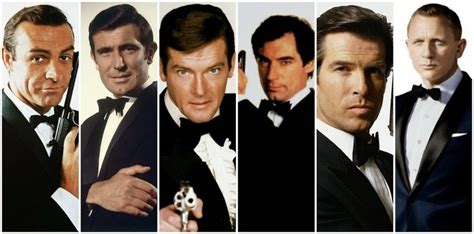 8 james bond 007 actors in 53 years youtube james bond collage