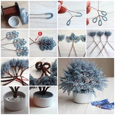 miniature tree  beads  step  step