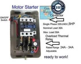 5 hp magnetic starter ebay