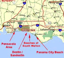 map of panhandle florida beaches of south walton maps of the south walton