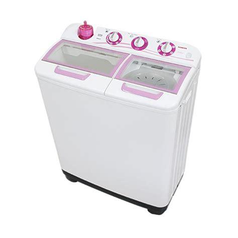 jual sanken tw 1123gx mesin cuci putih pink 2 tabung