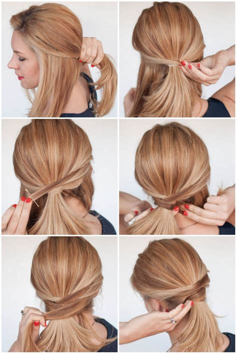 casual hairstyles tied up 12 cute hairstyle ideas for medium length hair
