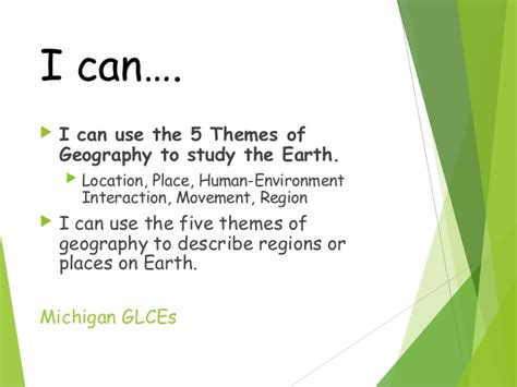 5 themes of geography michigan five themes of geography 08