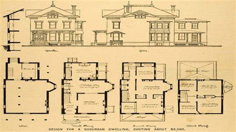 old house floor plans old queen anne house plans vintage victorian house plans