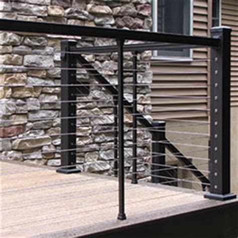 horizontal metal railing shop metal cable rail systems prestige keylink and ags