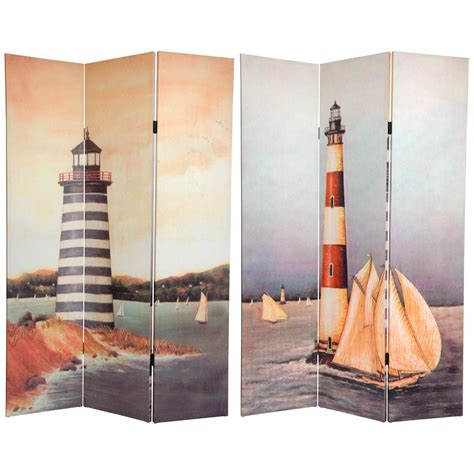 Canvas Room Divider 6 Ft Lighthouses Canvas Room Divider Roomdividers