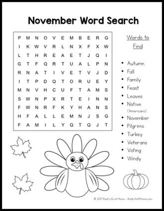 printable word search november free printable november word search printable puzzle for kids