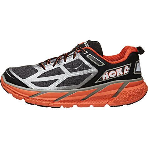 hoka road running shoes hoka clifton mens road running shoes silver orange at