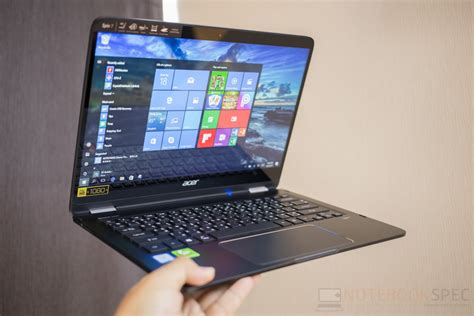 review acer spin 7 อ กหน ง2 in 1 notebook ท อย ใน one