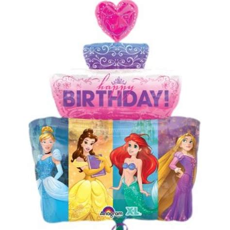 1 Set Batu Lukis Disney The Mermaid disney s multi princess birthday cake 28 inch supershape balloon from category character
