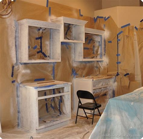 how to spray paint kitchen cabinets easily sprayertalk how to paint your kitchen cabinets professionally step