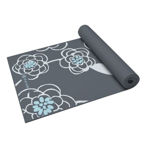 Best Mats For Beginners by Gaiam Premium Print Mat Icy Blossom 5mm