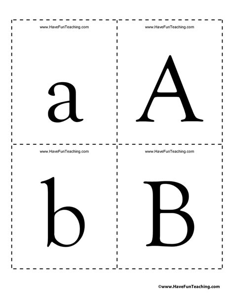 free printable alphabet flash card template alphabet flash cards uppercase and lowercase