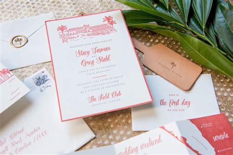 florida wedding invitations florida letterpress wedding invitation