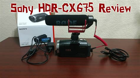 Kamera External Sony sony hdr cx675 product review using external mic