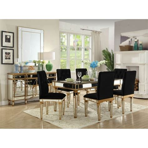 mirrored dining room set beautiful mirrored dining room set gallery home design