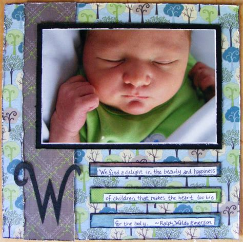 Scrapbook Layout About You by Snap Scrap Tweet Baby Scrapbook Layouts Journaling