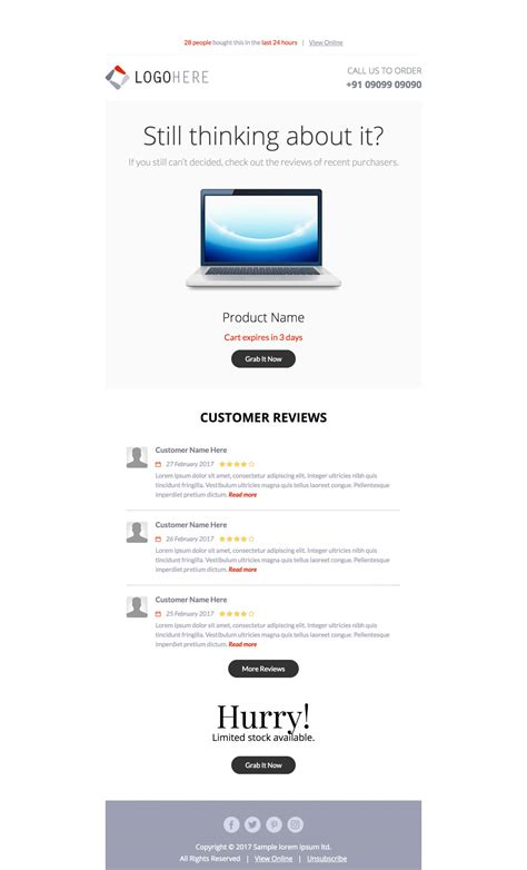 3 Free Abandoned Cart Email Templates Abandoned Cart Email Template Shopify