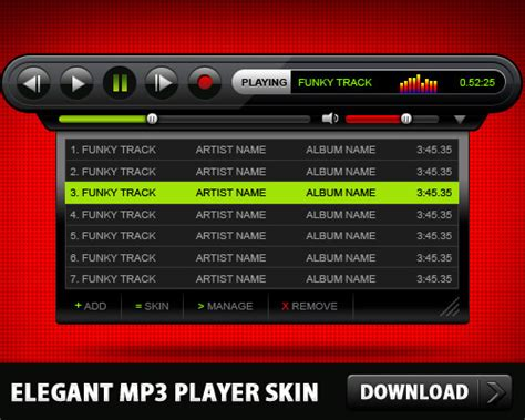 The Mp3 Player That Gives You Skin by Mp3 Player Skin Free Psd Psd