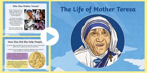 biography of jesus ks2 ks2 mother teresa powerpoint ks2 mother teresa significant