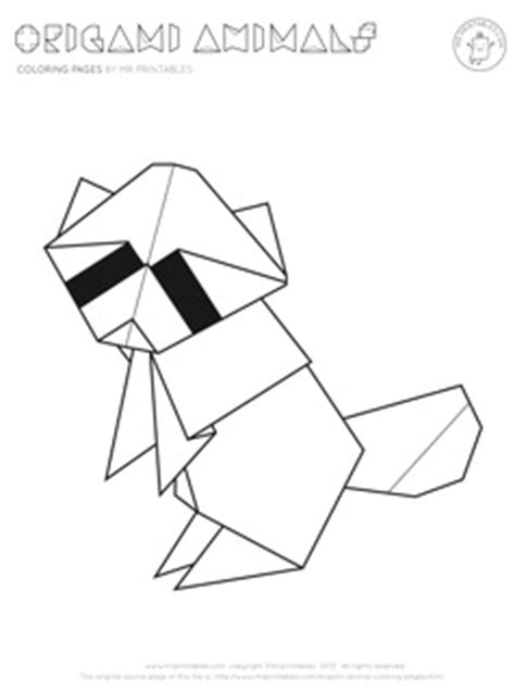 printable animal origami origami pages coloring pages