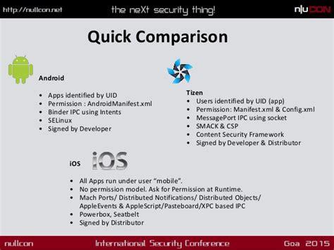 tizen vs android hacking tizen the os of everything nullcon goa 2015