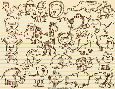 doodle draw animals animal sketches by erikdeprince on deviantart