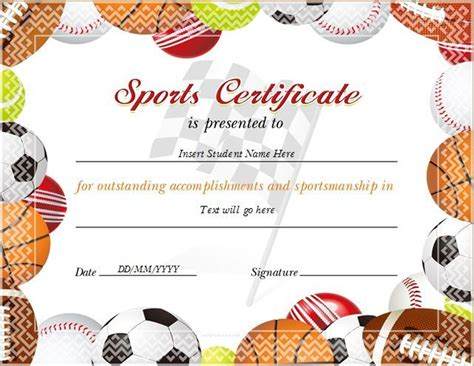 sports certificate templates free sports certificate for ms word at http
