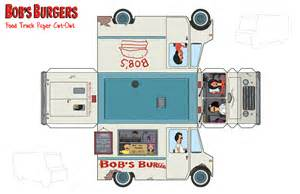 bob s burgers food truck paper toy by thisisanton on