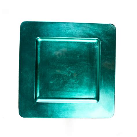 square charger plates standard turquoise square charger plate 33cm x 33cm