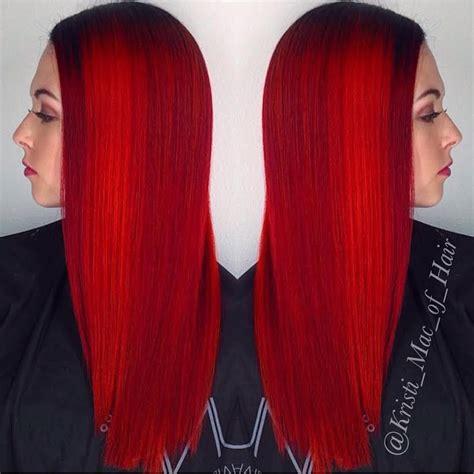 crimson hair color screaming crimson hair color hair by kristi of