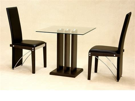 Small Clear Square Glass Dining Table And 2 Chairs Small Dining Table And Chairs Uk