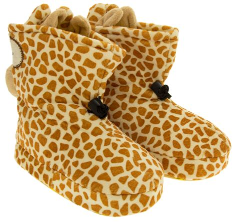 giraffe slippers uk boys giraffe novelty boot slippers childrens