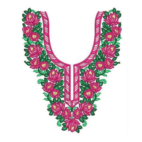 neck embroidery design pattern floral neckline designs 1081 embroideryshristi