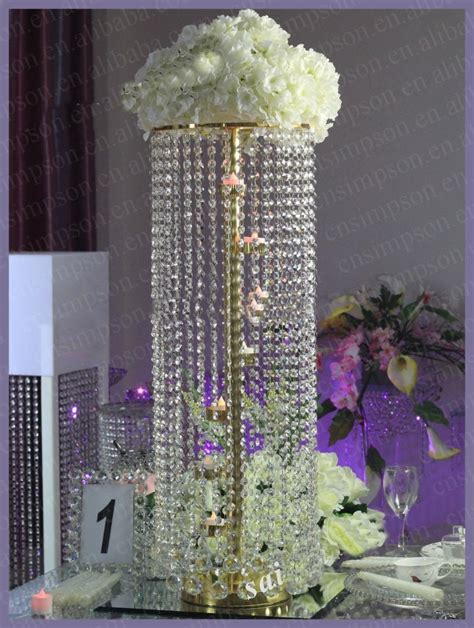 Chandeliers Centerpieces For Weddings Acrylic Chandelier Wedding Table Centerpiece With Candle Holders Buy