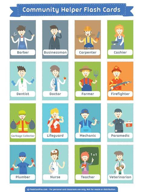 flash card maker for kindergarten 299 best ideas about preschool community helpers theme on