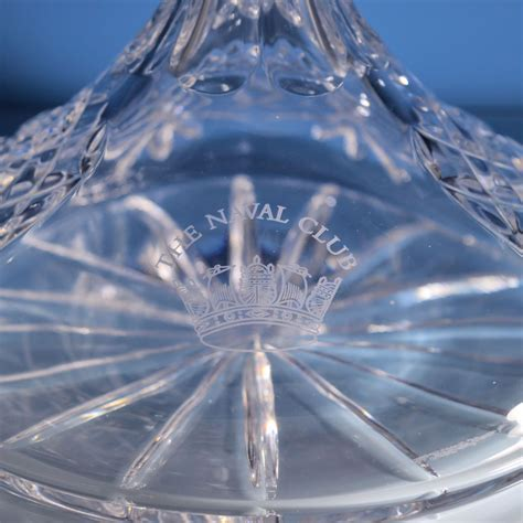 cut crystal vessel cut lead crystal ships decanter michael virden glass