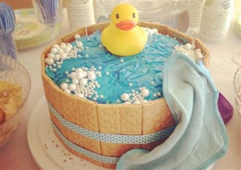 Rubber Duckie Baby Shower Cake by Rubber Ducky Baby Shower Cake Recipe By Grace Windu Cookpad