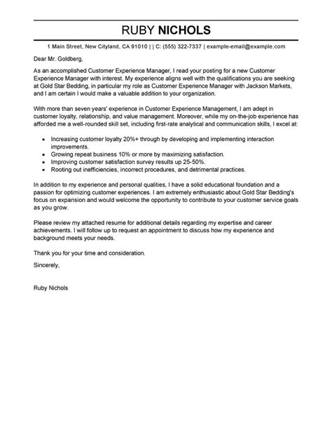 cover letter for customer service manager position leading professional customer experience manager cover