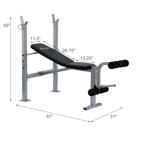 gym bench size adjustable weight bench barbell incline flat lifting