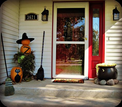decorating ideas for halloween front porch