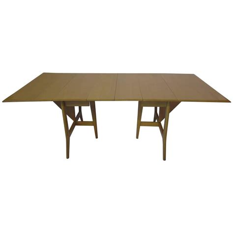 Dining Room Table Extension Heywood Mid Century Harmonic Drop Leaf Extension Dining Table At 1stdibs