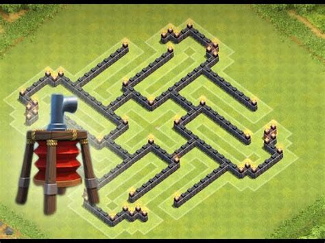 coc layout th7 with air sweeper 5 20 clash of clans th7 farming base great town hall 7