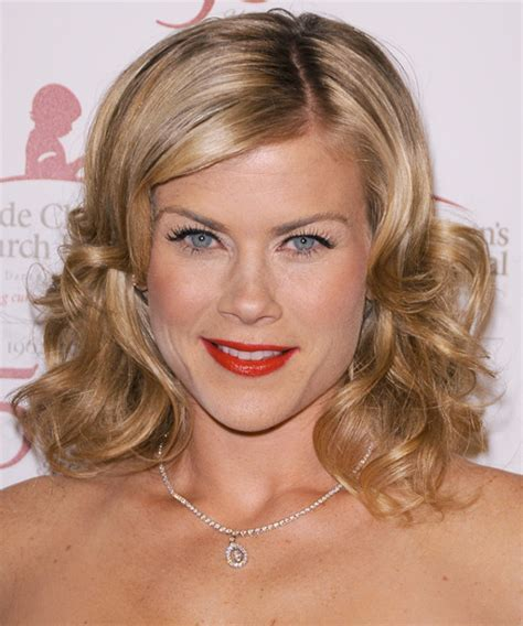 days of our lives actresses hairstyles alison sweeney medium wavy formal hairstyle dark blonde