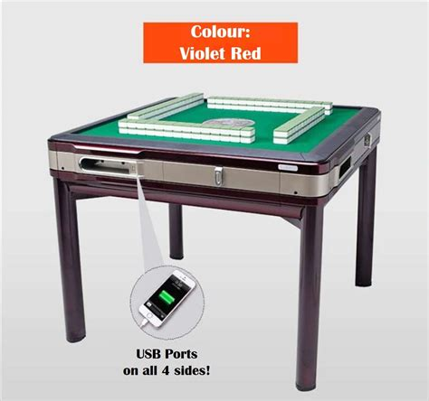 mahjong table automatic buy automatic foldable mahjong table singapore style 148 w animal tiles deals for