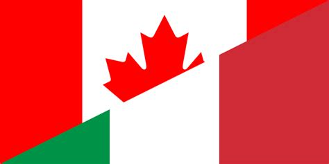 consolato canadese in italia file flag of canada and italy png wikimedia commons