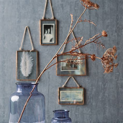 how to hang picture frames that have no hooks copper glass hanging frame by all things brighton