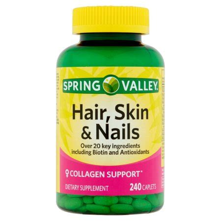 hair skin and nails spring valley hair skin nails plus biotin caplets 3000