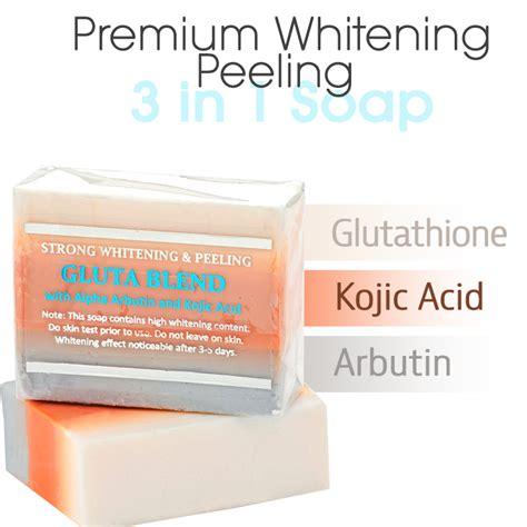 Glutathione Collagen Kojic Acid premium maximum brightening peeling soap w glutathione arbutin and kojic acid